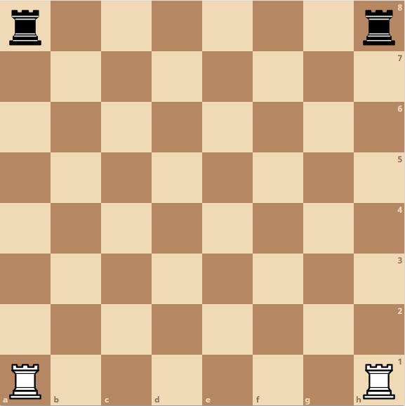 Schach Turm - Startposition