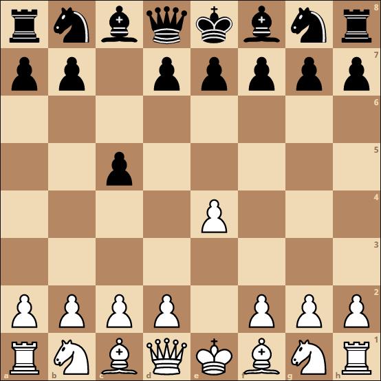 schach eröffnung - halboffenes system