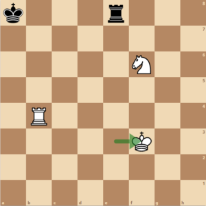 Der König zieht aus dem Schach
